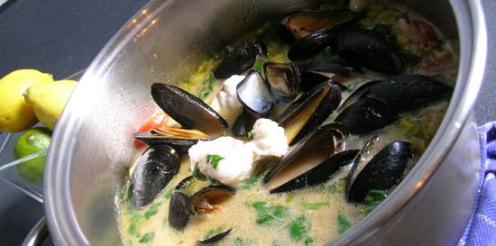 Bradley Smoked Mussel & Monkfish Soup