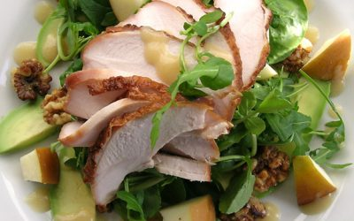 Warm Sweet, Salty & Smoky Chicken Salad
