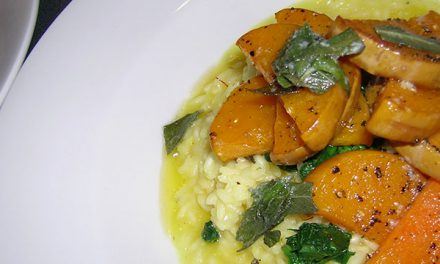 Smoked Butternut Squash Risotto with Crispy Sage Butter